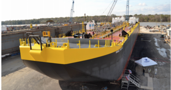 55,000-bbl. barge for Vane Brothers was delivered last year. Conrad Industries photo