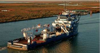 The offshore service vessel Harvey Deep-Sea in Louisiana. LSU photo.