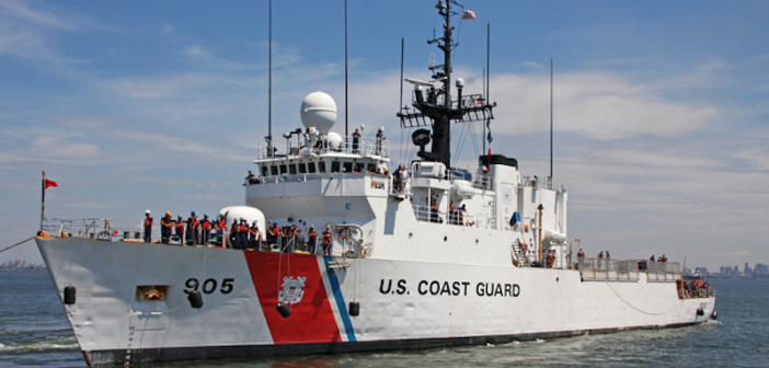 The Coast Guard cutter Spencer, a 270-foot cutter homeported in Boston, will be staged off the coast to respond to offshore search and rescue cases. Coast Guard photo