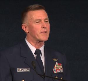 Coast Guard Commandant Adm. Paul Zukunft delivers his state of the Coast Guard address March 1, 2018. Coast Guard image.