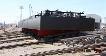 Jeffboat launched its final barge in April. Jeffboat photo