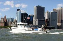 The research vessel Nauvoo in New York Harbor. NOAA photo.