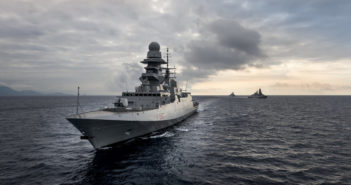 The Fincantieri design team's guided missile frigate would be built at Marinette Marine. Fincantieri photo