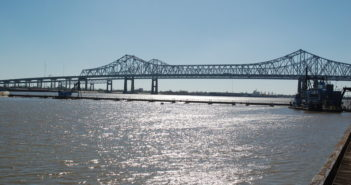 The incident occurred about 85 miles north and west of New Orleans along the Mississippi River. Ken Hocke photo