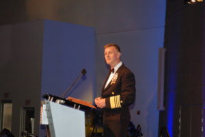 Commandant of the USCG, Adm. Paul F. Zukunft, speaks at the 25th Anniversary of the Coast Guard Foundation in New Orleans Friday night. Ken Hocke photo