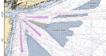 The federal Bureau of Ocean Energy Management issued a call for information on potential offshore energy wind areas in the New York Bight. BOEM image.