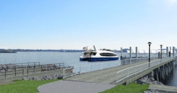 Construction is on track for landings to open two additional NYC Ferry routes this summer according to city officials. NYC Ferry photo.