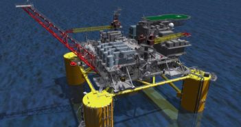 Shell rendering of its Vito deepwater development in the U.S. Gulf. Rendering courtesy of Shell Offshore Inc.