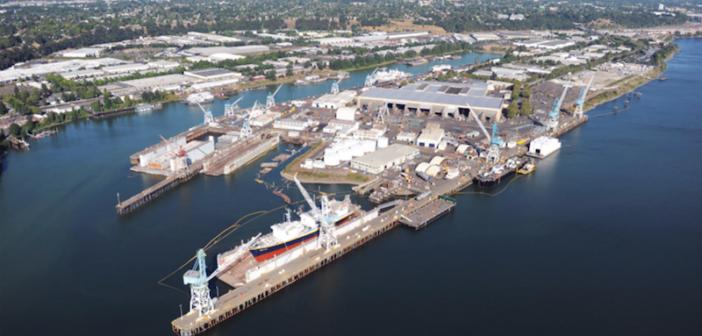Vigor's 60-acre Swan Island shipyard in Portland, Ore. Vigor photo