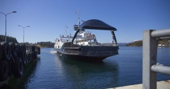 The Wärtsilä autodocking technology tests were carried out with a 272' ferry owned by Norled. Wärtsilä photo