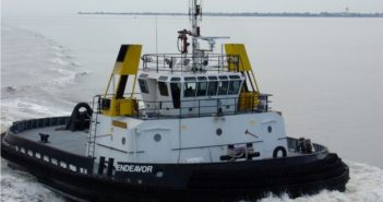 The SDM tractor tug Endeavor is the first to receive a Certificate of Inspection under Subchapter M. Marine Towing of Tampa photo.