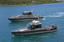 A new pilot boat and a new security boat for the Virgin Islands Port Authority. Metal Shark photo