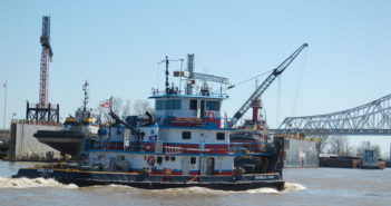 The Coast Guard reopened the Mississippi River at New Orleans after an oil spill on Thursday. Ken Hocke photo