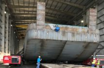 Four pushboats for Kirby Inland Marine are under construction at Main Iron Works, Houma, La. Main Iron Works photo