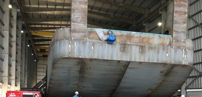 Four pushboats for Kirby Inland Marine are under construction at Main Iron Works, Houma, La. Main Iron Works photo