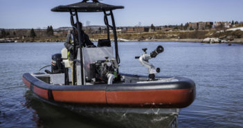 Lake Assault Boats is displaying two vessels at the Fire Department Instructors Conference (FDIC) Exhibition in Indianapolis, Indiana. On view will be the company's 21' rescue boat and its 28' fireboat. Lake Assault Boats photo