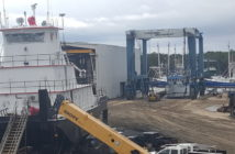 Horizon has both new construction and repair projects in the yard. Horizon Shipbuilding photo