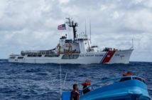 The cutter Active intercepts a drug smuggling boat off Central America May 18, 2018. Coast Guard photo/PO1 Michael De Nyse.