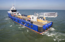 The first Damen fast crew supply (FCS) vessel to be fitted with an Ampelmann L-type system began operations in the Gulf of Guinea.