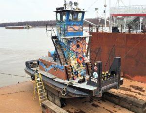 Towboat before undergoing retrofit. The Shearer Group photo