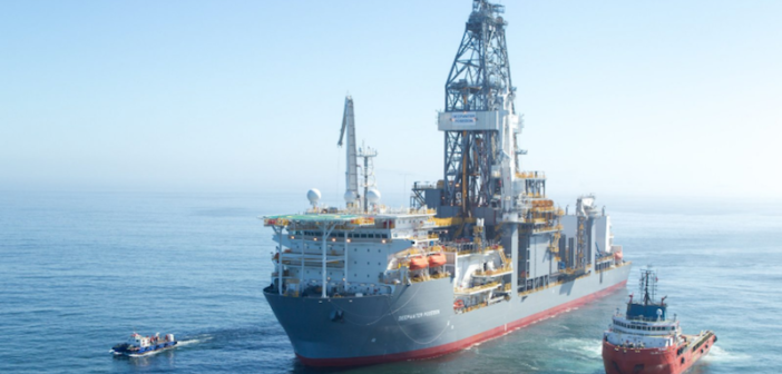 Deepwater Poseidon, a newbuild rig, in the U.S. Gulf of Mexico. Shell photo