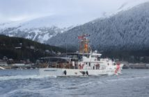 The fast response cutter John McCormick arrives at its home port of Ketchikan, Alaska, March 21, 2017, after commissioning at Key West, Fla., and a 6,200-mile voyage.. Coast Guard photo.