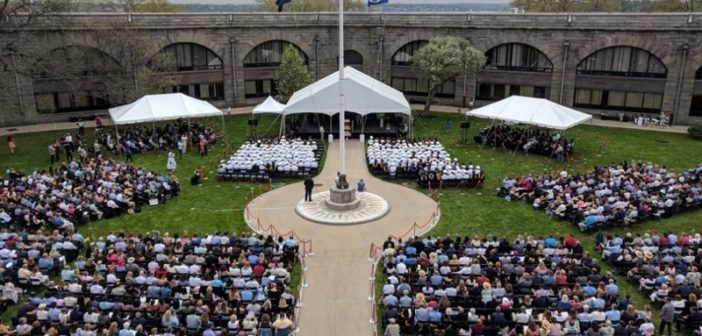 SUNY Maritime College graduated the largest class in its 144-year history May 4, 2018. SUNY Maritime photo.