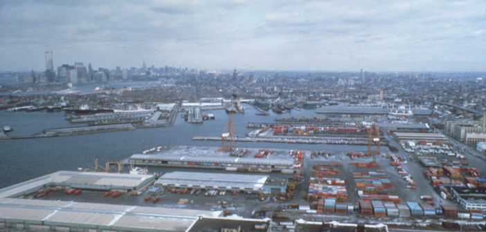 The South Brooklyn Marine Terminal during busy times in 1983. NY Economic Development Corporation photo.