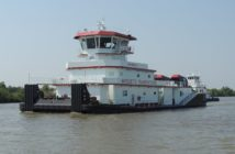 The second of three new 160'x50' towboats from C&C Marine and Repair for Marquette. C&C Marine and Repair photo