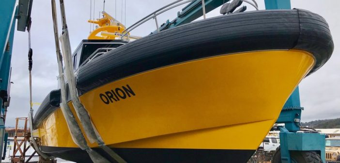 New pilot boat is working California's Long Beach Harbor. Nordlund Boat photo
