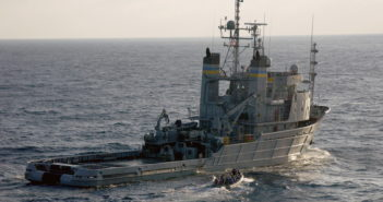 The new version of the Navy's towing, salvage and rescue ship will be an upgrade from what is shown here. Navy photo