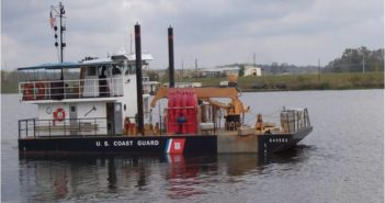 A Coast Guard 64' aids to navigation boat homeported in Colfax, La. Coast Guard photo.