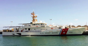 Newest fast response cutter in Key West, Fla. Bollinger Shipyards photo