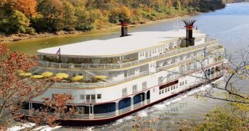 A sewage tank overflow has kept the Louisiane at the dock since late 2016. French America Line rendering