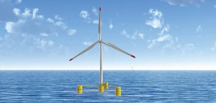 Maine Aqua Ventus is a proposed 12 MW wind turbine demonstration project off the coast of Maine. University of Maine image.