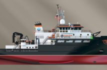 Rendering of the regional class research vessel. Glosten Associates rendering