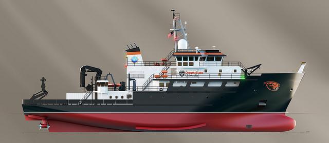 Rendering of the regional class research vessel. Glosten Associates rendering