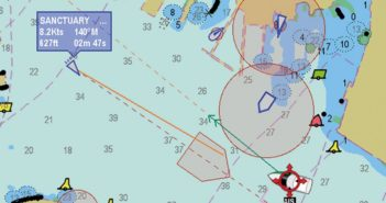 AIS screen shot courtesy of Raymarine.