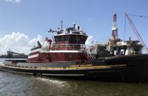 The Rosemary McAllister, second in a series of four 100'x40' tugboats, 6.770-hp tugboats is joining the McAllister Towing and Transportation Co., Inc. fleet in Norfolk, Va.