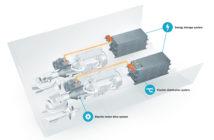 Volvo Penta's hybrid IPS propulsion system will enable zero emissions operation for marine vessels. Volvo Penta image.