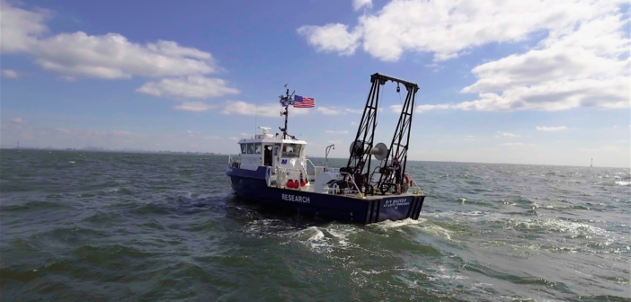The research vessel Nauvoo at sea off the New Jersey coast. Monmouth University photo.