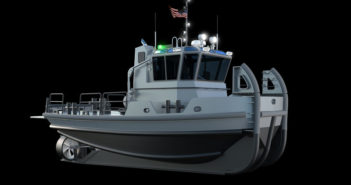 New 40'x17 workboat-large for Navy will be built in Seattle. U.S. Navy rendering