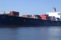 New book recounts the ill fated final voyage of the 790' roll on/roll off container ship. Tote Services photo