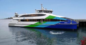 The Argo, the third of four all aluminum, 400-passenger ferries for San Francisco. Vigor photo