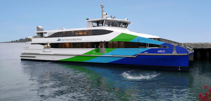 The Argo, the third of four all aluminum, 400-passenger ferries for San Francisco. Vigor photo