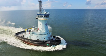 The new ATB tug has a bollard pull of 48.19 metric tons. Master Boat Builders photo