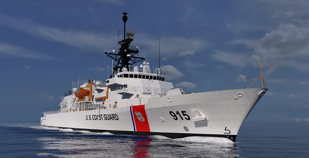 Eastern Shipbuilding Group has contracted to build up to nine of the next Offshore Patrol Cutter class for the Coast Guard. ESG rendering