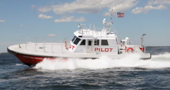 The Virginia Pilot Association took delivery in late June of the pilot boat Hampton Roads from Gladding-Hearn Shipbuilding. Photo by Gladding-Hearn Shipbuilding