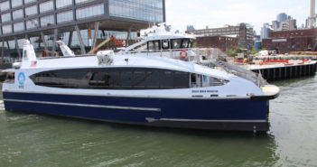 The Ocean Queen Rockstar is the first in a new class of 350-passenger vessels for NYC Ferry. NYEDC photo