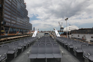 The new vessel features outdoor seating for 182 passengers. NYEDC photo